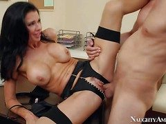 Dark-skinned haired milf Veronica Avluv with heavy enactment Bristols and