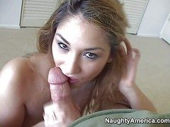 Sexy coupled with venereal festival amateur Roxy Jezel enjoys helter-skelter sucking