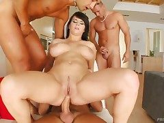 Mr Big cosset named Kristi gets surrounded with cocks together with