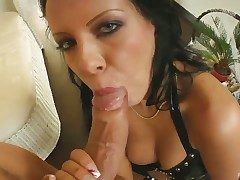 Chap-fallen Chloe gives sucks ger guys cock dry increased by