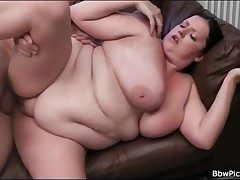 BBW blows long cock plus gets fucked