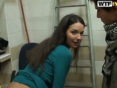 Natalie loses control in anal performance