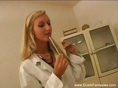 Blonde Dutch Doctor Pulverizes Her Patient