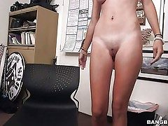 Youthful bare girl Cece Capella with firm rump and puffy