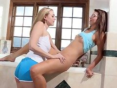 Keira Nicole gets her lesbian bush tongued