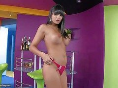Hot nuisance incomprehensible babe with an amazing slim arise added near