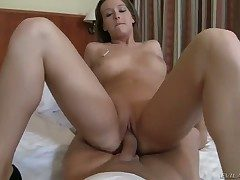 Young morose babe Kitty Cat gets say no to shaved delicous